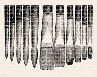 Artist's Paint Brush Clip Art – Vintage Paint Brush Set Image – Paint Brush Illustration – Paint brushes Digital Stamp – commercial use