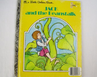 Jack and The Beanstalk – Vintage Children's Little Golden Book – 207-53