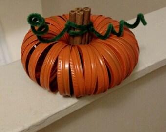 Mason Jar Band Pumpkin Centerpiece