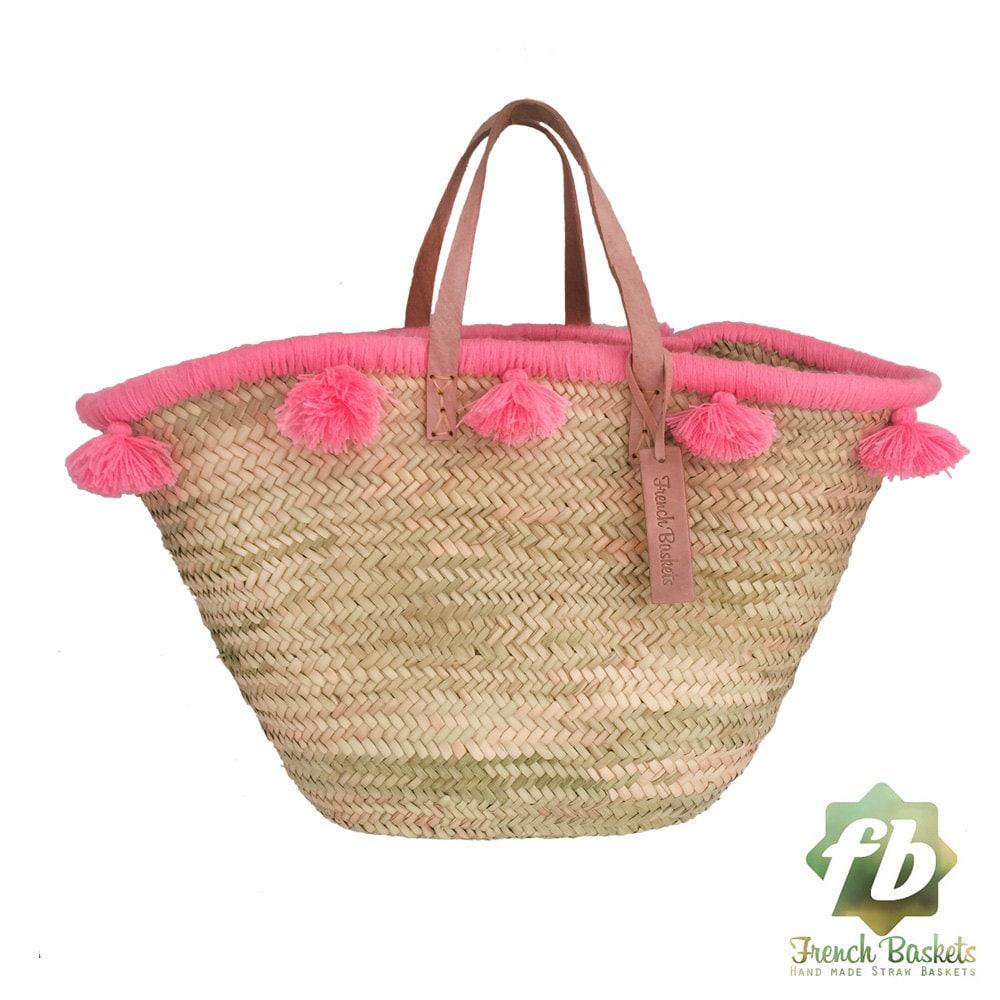 french baskets pastel pink french basket moroccan basket. Black Bedroom Furniture Sets. Home Design Ideas