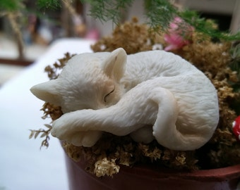 1pcs lovely sleep cat/ kitten/DIY accessories  10524
