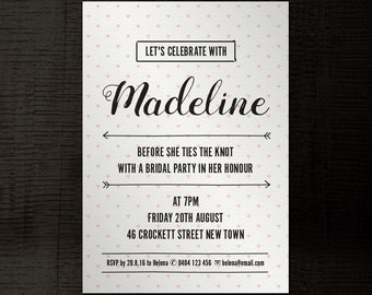 party invitation customisable a5 indesign template, Invitation templates
