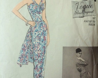 Rare Vogue Paris Original Jacques Heim Dress and Jacket Pattern 1363
