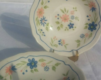 Country French Ironstone cereal bowls, set of 3