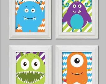 Monster Art, Monster Prints, Little Monster, Monster Decor, Children's Bedroom Art, Children's Wall Art