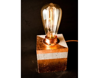 etsy industrial lighting. copper decorations table lamp industrial concrete office lighting etsy s