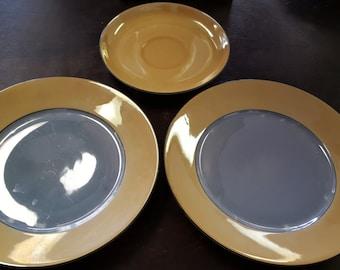 Vintage Bavarian Lusterware plates