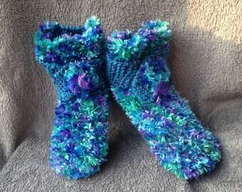 slippers / slippers crocheted / knitted slippers