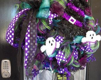 Halloween Wreath, Halloween Decoration, Halloween Party, Wreath for Door, front door Wreaths, custom wreath, front door hanger