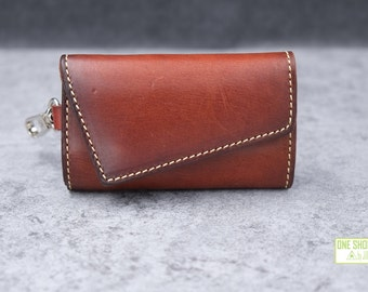 irregular tailor leather key case/holder of belt loop design