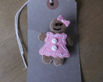 Felt gingerbread girl