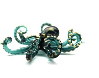 Blown Glass Octopus, Glass  Octopus, Glass, Octopus, Ocean, Octopus Sculpture, Squid, Kraken, Cephalopod, Blown Glass, Octopus Figurine