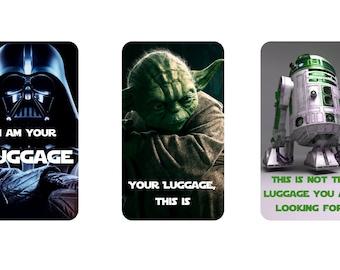 Star Wars Inspired Aluminum Luggage Tags - Darth Vader Luggage Tag - Yoda Luggage Tag