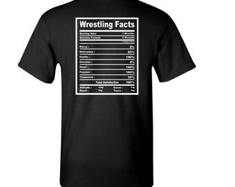 Wrestling Nutritional Facts t-shirt - Wrestler t-shirt - Wrestling t-shirt