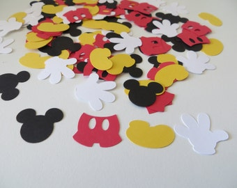 Mickey Mouse Confetti - Set of 160 - Disney - Mickey Mouse Shapes