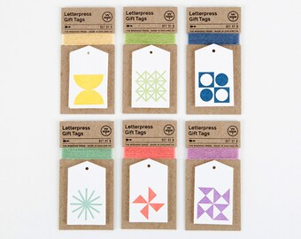 Letterpress Gift Tags – Set of 6