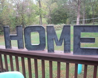 Rustic Metal HOME Sign-Metal HOME Letters-Industrial Metal 'Home' Sign-Home/Business/Wedding-Rustic Farmhouse HOME Sign Wall Decor