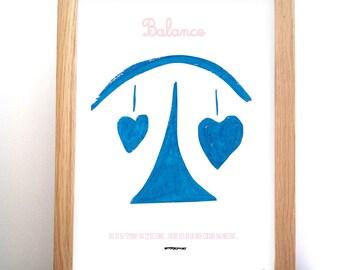 Illustration Zodiac balance - sign of the Zodiac