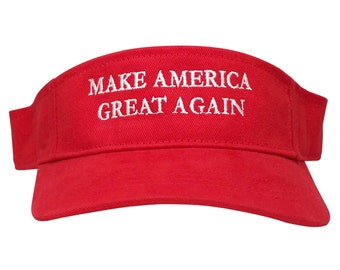 Donald Trump Visor, Make America Great Again - Quality Embroidered 100% Cotton Visor Cap