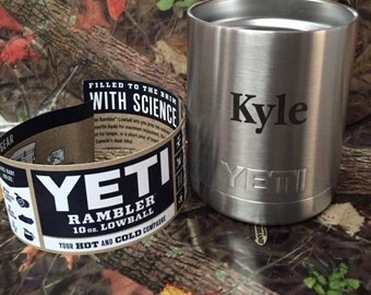 Yeti Lowball 10 oz with Lid (with FREE Engraving)