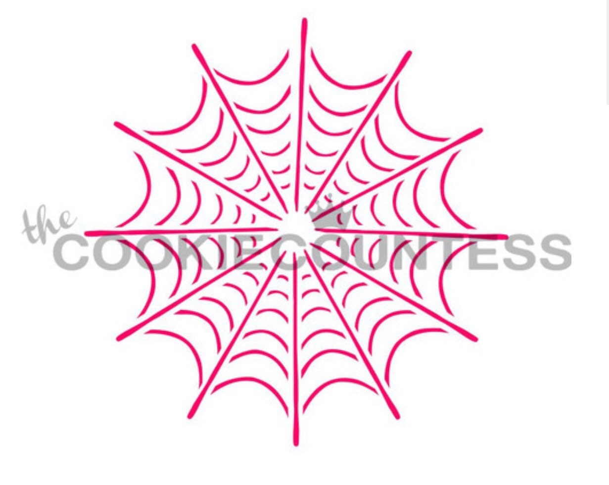 Spider Web Stencil For Cakes