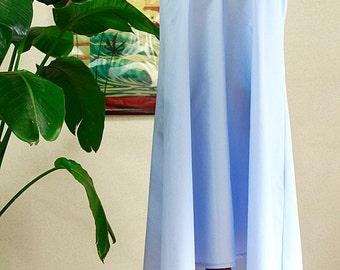Hawaiian fabric ,Sax blue, No sleeve dress ,HNLS-SALE-3
