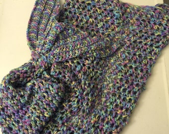 """Mermaid Tail Blanket (Adult/Teen size). """"Monet"""" Colored (ready to ship)"""