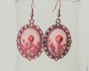 Flower earrings / Polymer clay / Handmade