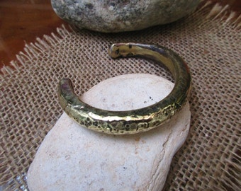 Wide Bronze Cuff Bracelet. 6.5mm X 11mm Thick and Wide. Solid. Hammered and Plain.solid.