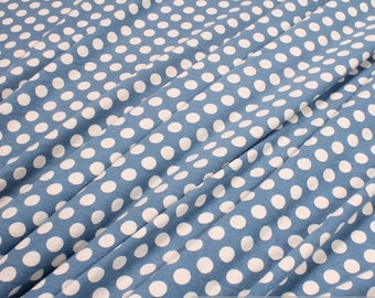 Fabric cotton elastane single jersey dots jeans blue white T-shirt