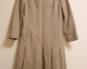 SALE!! 60s vintage GALANOS  mad men wool  dress. xs/s.