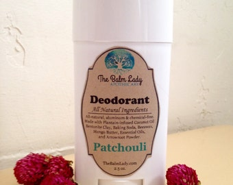Patchouli Natural Deodorant Deoderant Stick Sensitive Skin Formula All Natural Ingredients for normal to sensitive skin