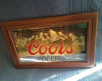Vintage Coor Beer Mirror Sign