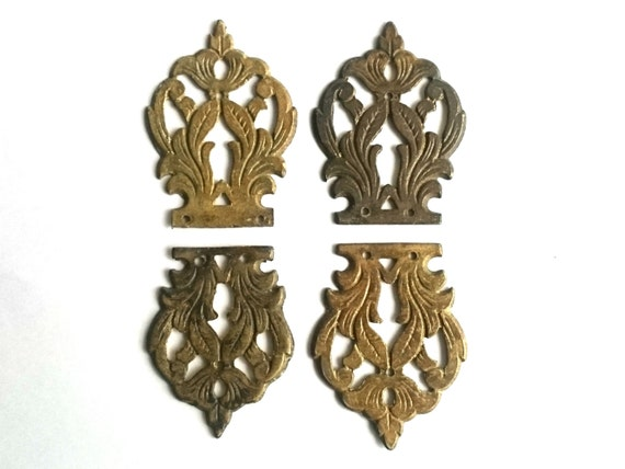 Set antique solid brass ornaments furniture appliques for Applique furniture decoration