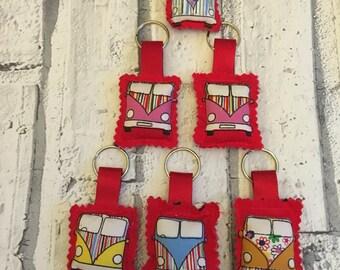 handmade volkswagen vw campervan key chain/ keyring