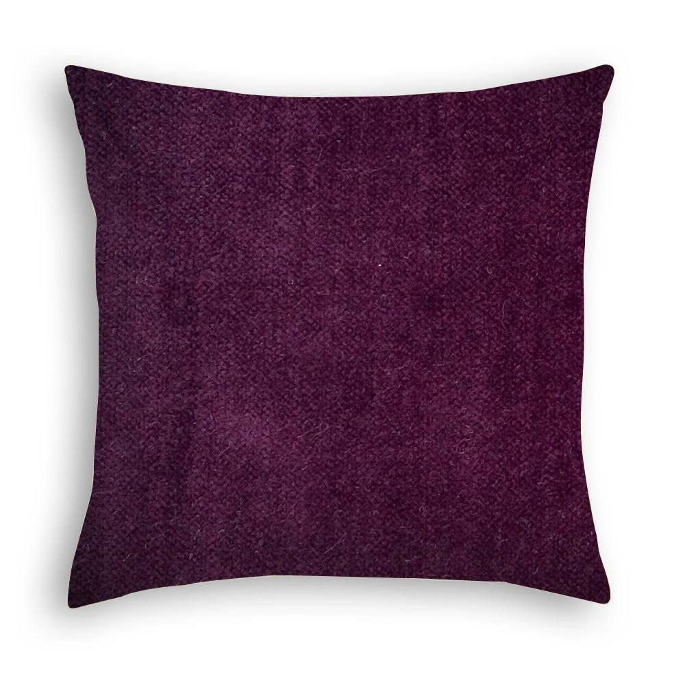 Eggplant Purple Throw Pillows : Eggplant Purple Velvet decorative pillow cover. by DcoraPillows
