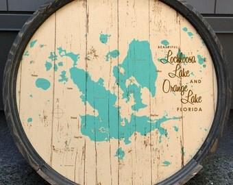 Lochloosa & Orange Lakes, FL Map Barrel End