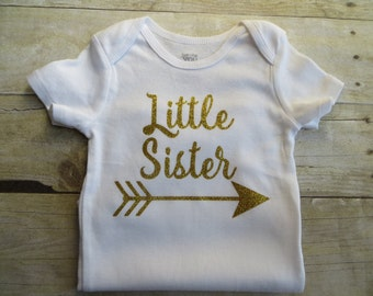 Little Sister Shirt, sibling shirt, Matching Big and Little Shirts