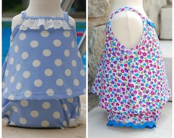 Girls Swimsuit PDF Pattern: Bathing suit pattern, Swimsuit Sewing Pattern, Baby Swimsuit Pattern, Girl Swimsuit Pattern, Toddler Swimsuit