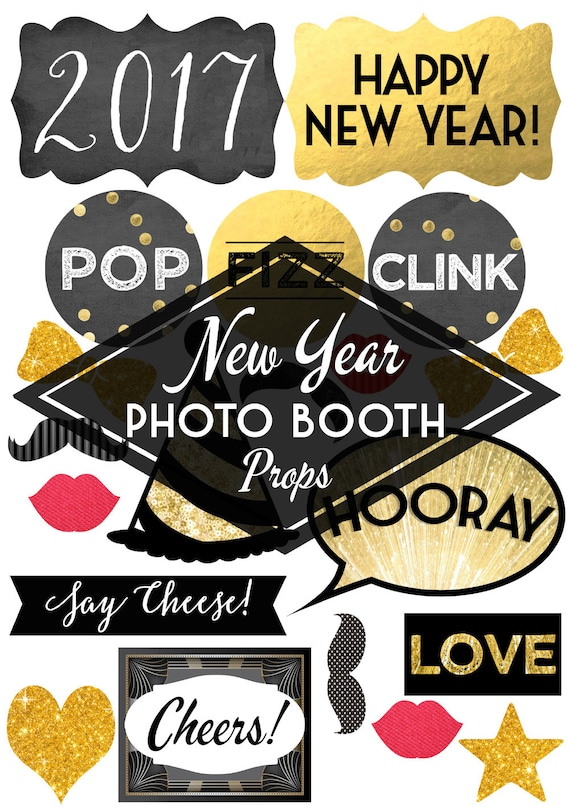printable diy new year 39 s eve photo booth by hiphiphooraystudio On new years po booth backdrops