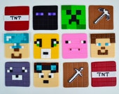 12 Edible Minecraft Inspired Cupcake Toppers