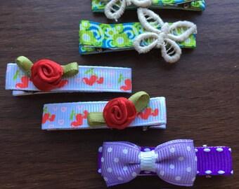 kids & baby  Alligator hair clips set