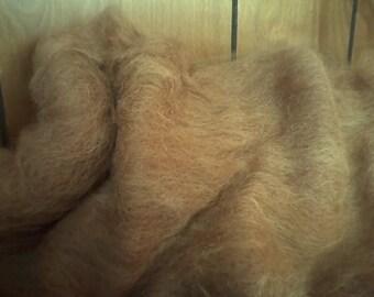 tan alpaca spinning batts 2 oz