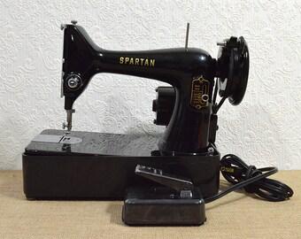 Singer Spartan 192K Sewing Machine- Working Lightweight Heavy Duty Singer