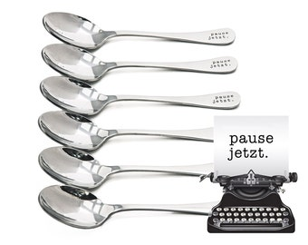 Teaspoons, pause jetzt., + personalized engraving