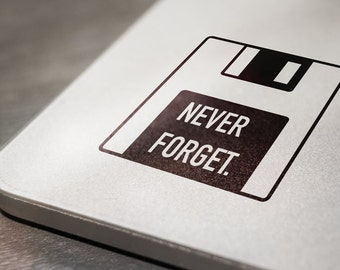 Floppy Disk Never Forget Laptop Decal Sticker