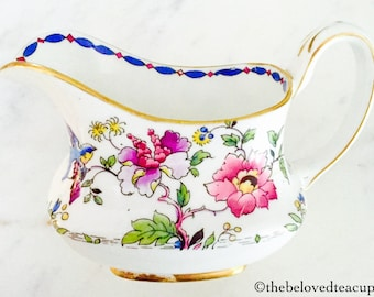 Star Paragon Floral Bird Sugar Bowl and Creamer Jug