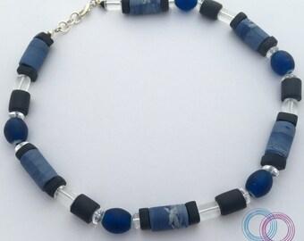"""Artist necklace """"Le Grand Bleu"""""""