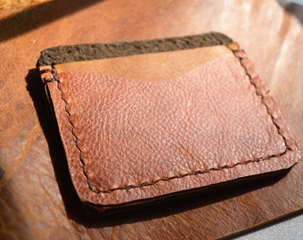 Camel Tri-Colored Leather Wallet No.2