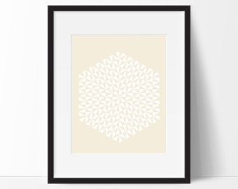 Geometric Print Art, Geometric Art, Geometric Printable, Digital Art Print, Geometric Print, Instant Download, Modern, Yellow